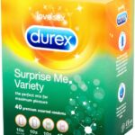 Durex Surprise Me Variety: Kondomer 40-pack