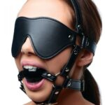 Strict: Blindfold Harness + Ball Gag