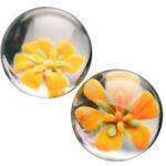 Topco: Cyberglass Ben Wa Balls Yellow Blossom